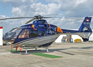 """EC135T-2 OE-XFB Flying Bulls This is the very elegant private helicopter of """"Red Bull"""" founder and owner Dietrich Mateschitz."""