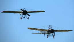 Morane-Saulnier H.13 and Bleriot XI in formation