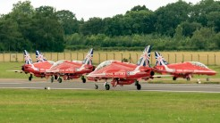 Red Arrows RAF taxiing