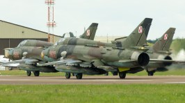 Sukhoi Su-22M4 3612 Polish air force 4-ship ready for take off