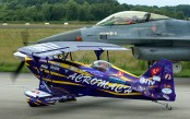 "Pitts S-2S Special TC-ABS Ali Izmet Ozturk ""The Purple Violet"" and F-16AM"