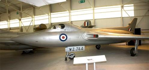 Panorama Avro 707C WZ744 RAF delta test plane for future Vulcan