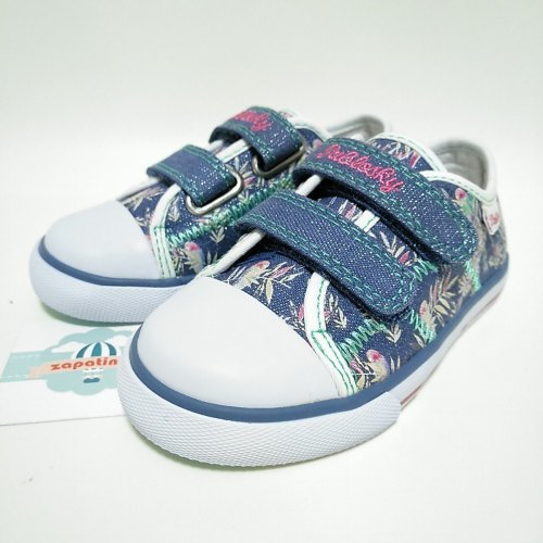 Pablosky Canvas Denim Azul Velcro Niña