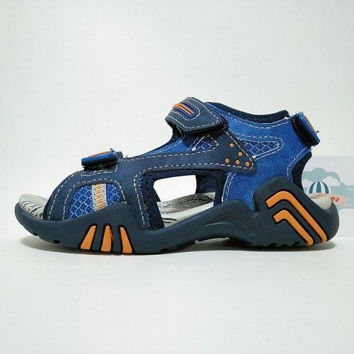 Sandalia Deportiva Mesh Navy Velcros