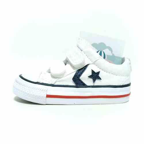 Converse all star blanca lona