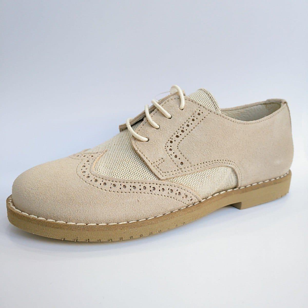 2f314928804 zapato beige de comunión para niños · Dar2 Zapato Serraje Beige Picado ...