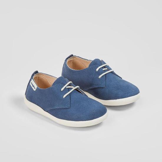 Zapato Serraje Azul Cordones Niño Conguitos