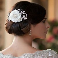 Vintage Flower Wedding Hair Clip - Jasmine - Zaphira Bridal