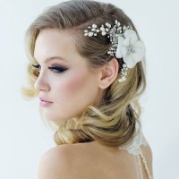 Vintage Flower Hair Accessory Mara - Zaphira Bridal