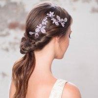 wedding hair brighton crystal leaf wedding hair vine ...