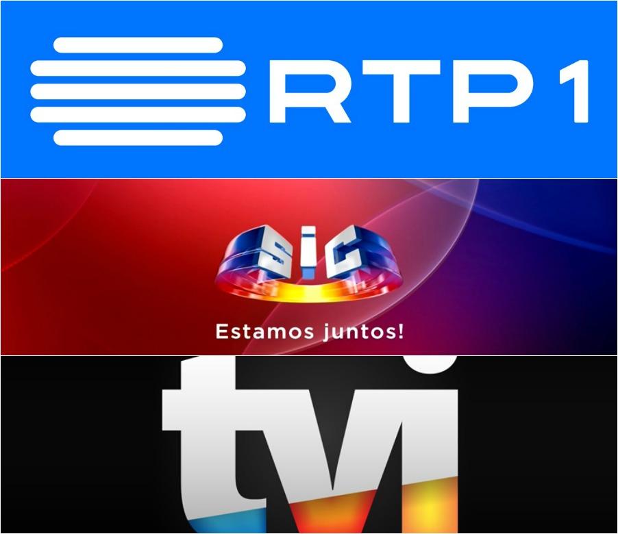 RTP1, SIC e TVI