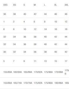 Chinese size chart also people davidjoel rh