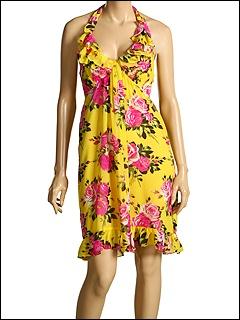 Betsey Rose Chiffon Halter Dress