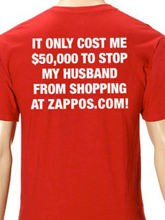 Zappos.com Sells $50,000 Cease and Desist Service & T-Shirt