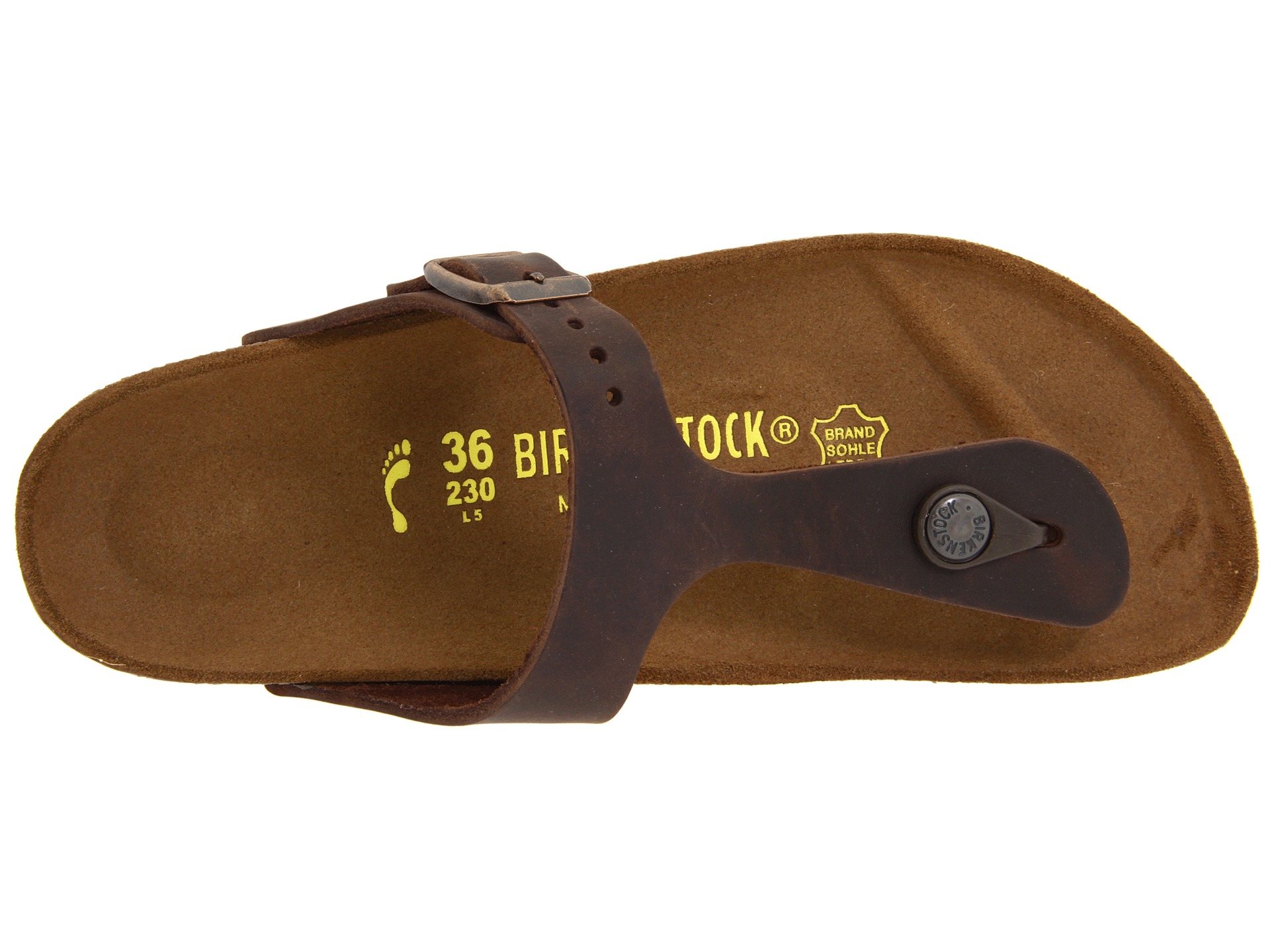 Birkenstock Gizeh Oiled Leather at Zappos.com