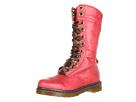 Dr. Martens - Triumph 1914 W 14-Eye Boot (Cherry Red Darkened Mirage) - Footwear