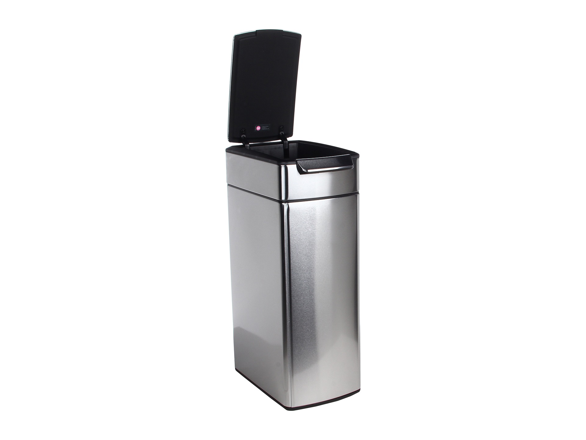 slim kitchen trash can center island simplehuman touch bar