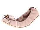 Burberry - Buckle Detail Nubuck Ballerinas (Slate Pink) - Footwear