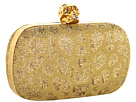 Alexander McQueen - Classic Skull Clutch (White/Gold) - Bags and Luggage