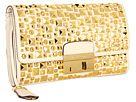 Michael Kors - Gia Studded Clutch with Lock (Ecru) - Bags and Luggage