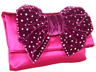 Betsey Johnson - Diamond Bow Clutch (Pink) - Bags and Luggage