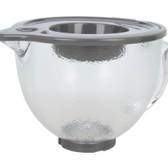 Kitchen Aid Glass Bowl Alder Cabinets Kitchenaid 5 Qt Hammered With Pouring Spout Lid