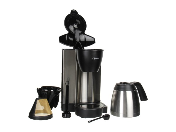Capresso Mt600 Coffeemaker With Thermal Carafe Chrome Black - Free Shipping