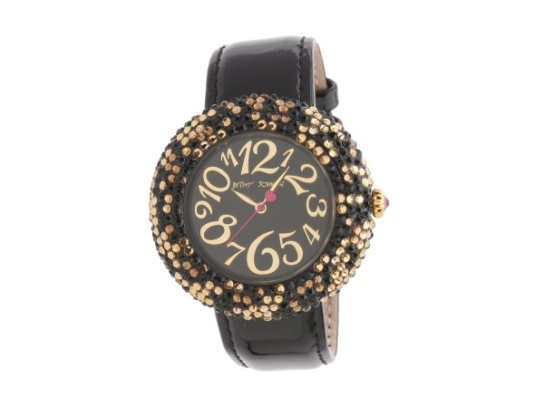 Betsey Johnson Bj00234 02 Analog Leopard Pave Dial Watch