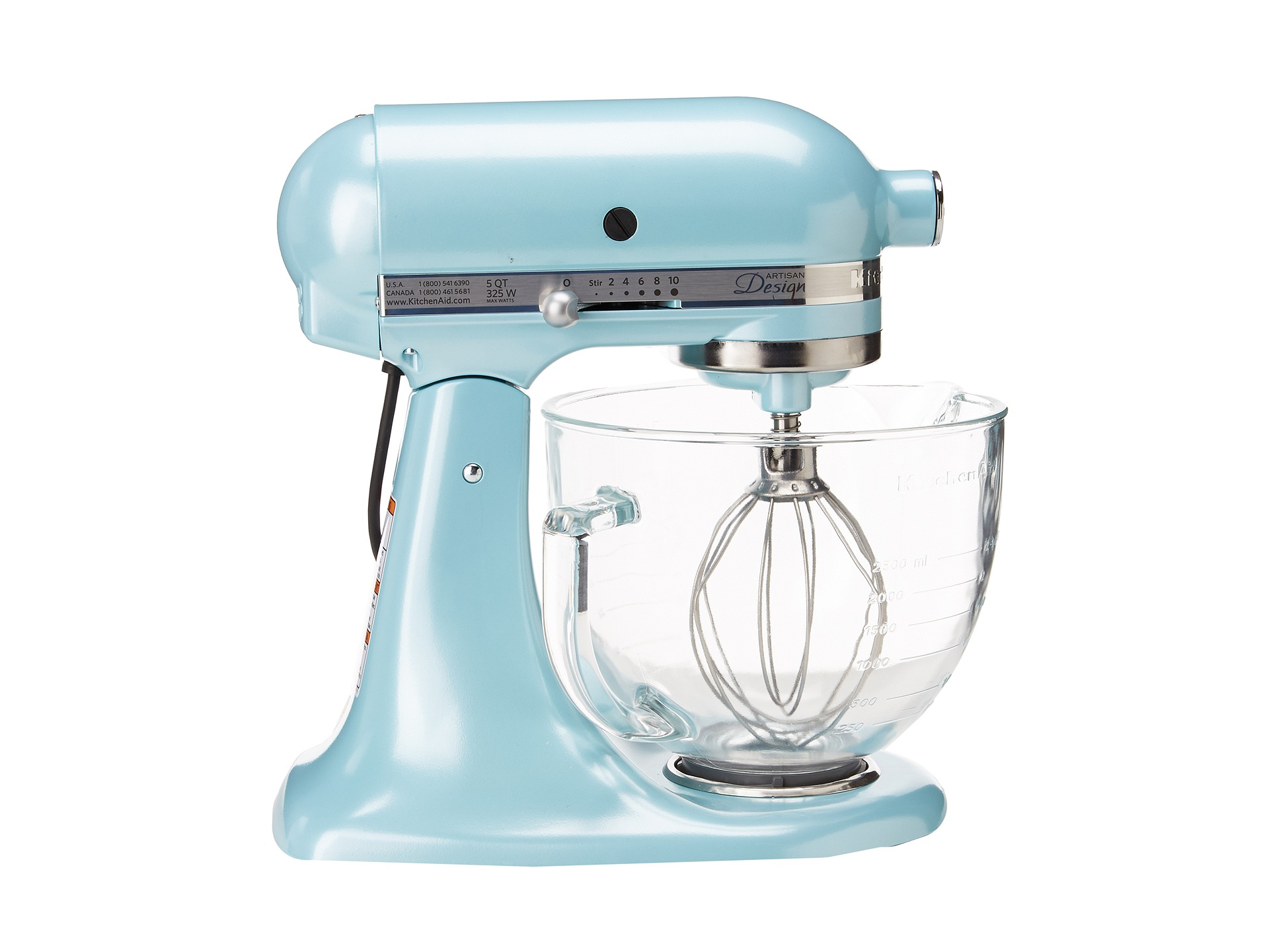 kitchen aid glass bowl maid cabinets kitchenaid ksm155gb artisan design series 5 quart tilt