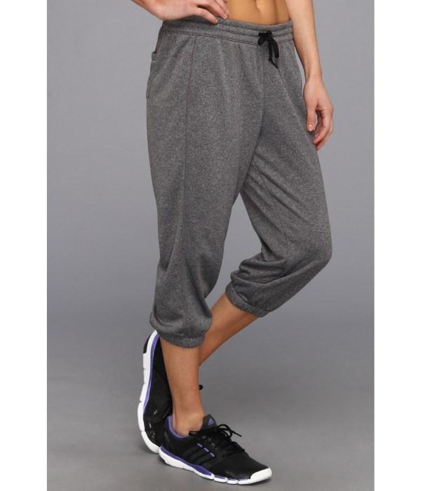 Adidas Women' Boyfriend Terry Capri Dark Gray 3 4 Sweat