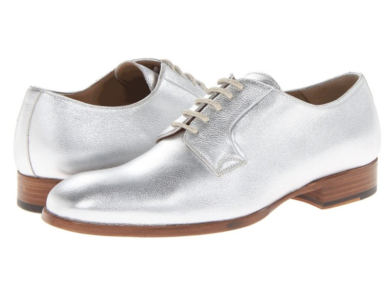 Alexander McQueen Albert Derby (Silver) Men's Shoes