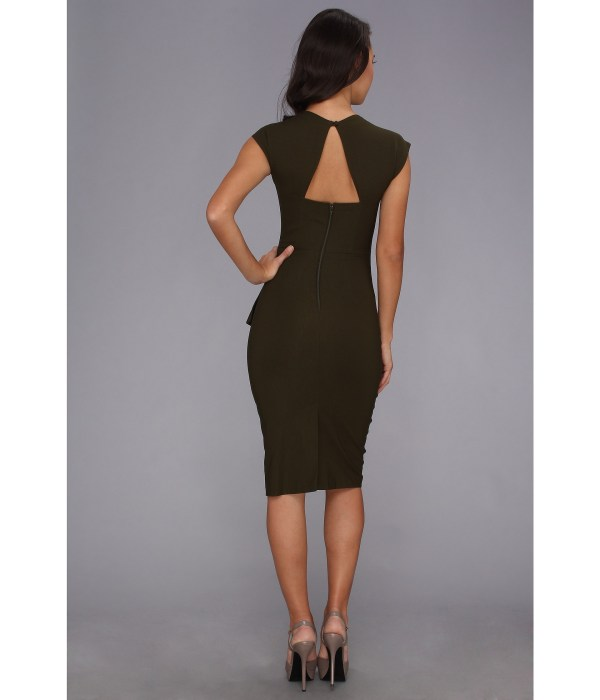 Stop Staring Cool People Uma Fitted Dress Army Green Shipped Free Zappos