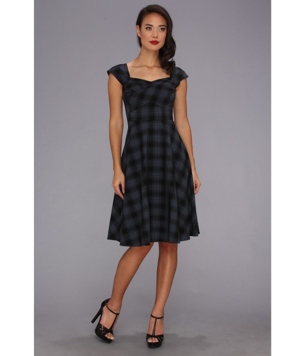 Stop Staring Cool People Cecilia Swing Dress Blue Plaid Shipped Free Zappos