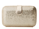 Jessica McClintock - Large Minaudiere w/ Tab (Light Gold) - Bags and Luggage