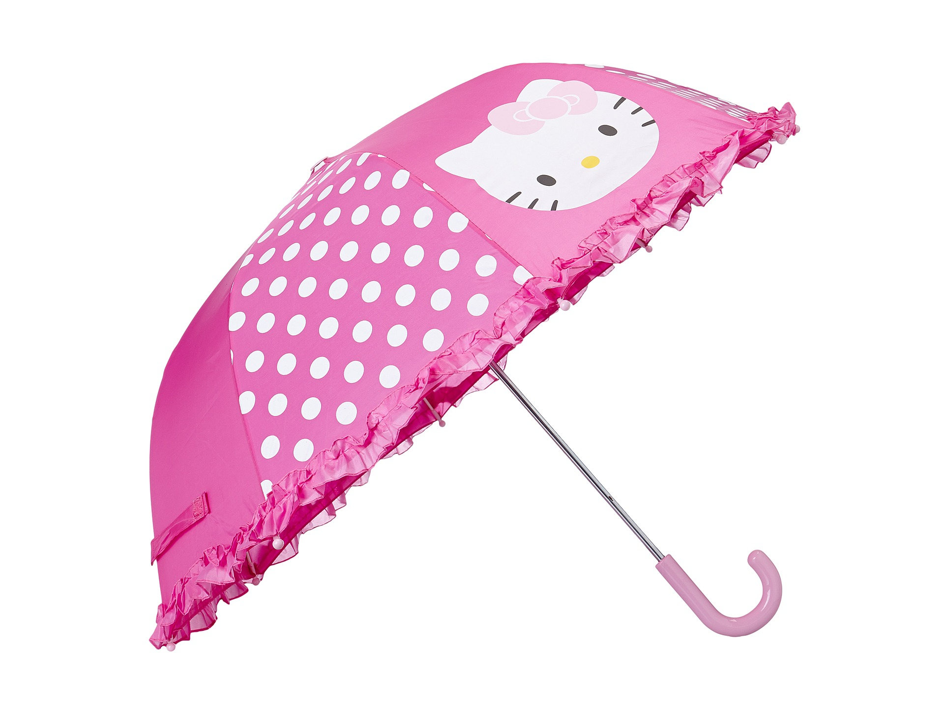 Western Chief Kids Hello Kitty Cutie Dot Umbrella Pink
