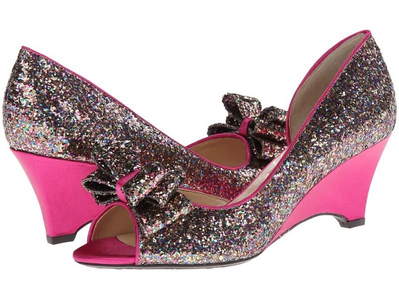 J. Renee Chrissy (Fuchsia Multi Glam Fabric) Women's Wedge Shoes