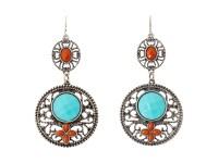 M&F Western Filagree Turquoise Drop Earrings Light ...