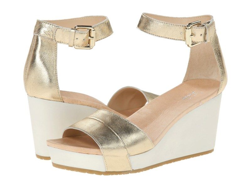 Dr. Scholl's - Warner - Original Collection (Platinum Leather) Women's Wedge Shoes
