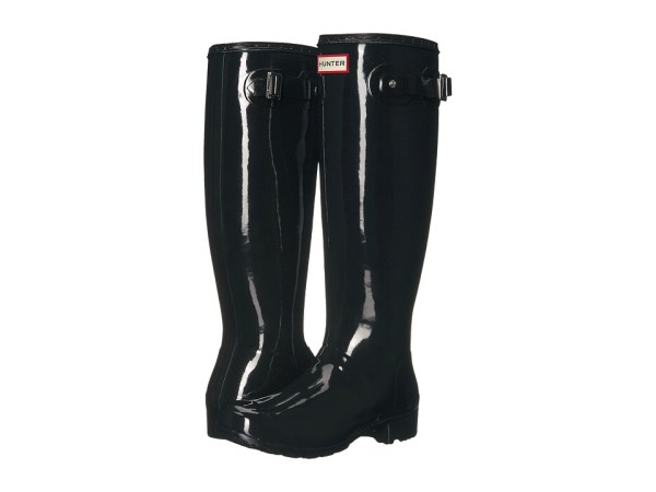 Hunter - Original Tour Gloss (Black) Women's Rain Boots