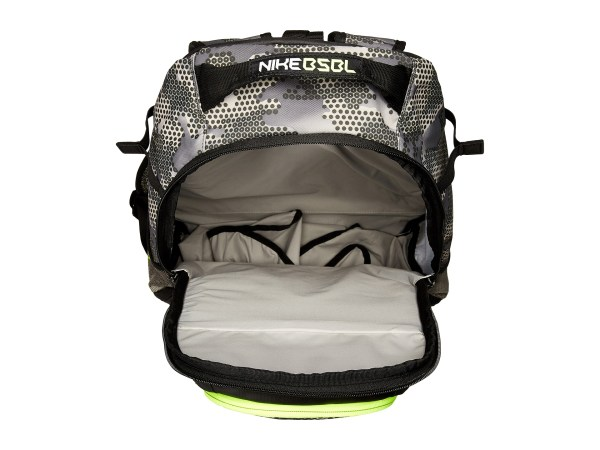 Nike Vapor Elite Bat Backpack Graphic Tumbled Grey Black