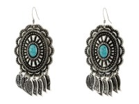 M&F Western Feather Concho Drop Earrings at Zappos.com