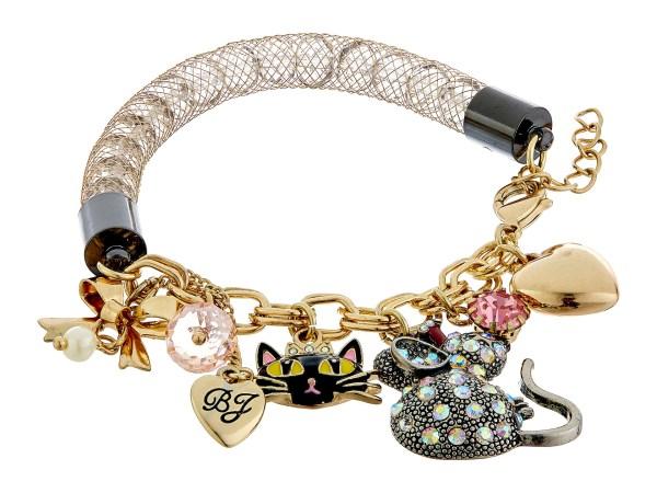 Betsey Johnson Boxed Cat Charm Bracelet