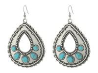 M&F Western Teardrop Turquoise Necklace/Earrings Set ...