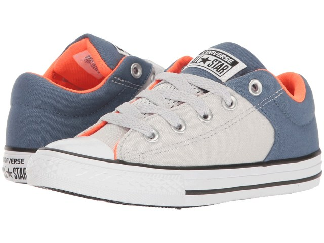 Converse Kids - Chuck Taylor All Star High Street Slip (Little Kid/Big Kid) (Mouse/Blue Coast/White) Boy's Shoes