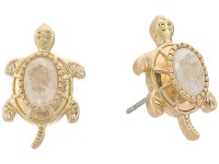 Lilly Pulitzer Slow Poke Earrings Gold Metallic - Zappos ...