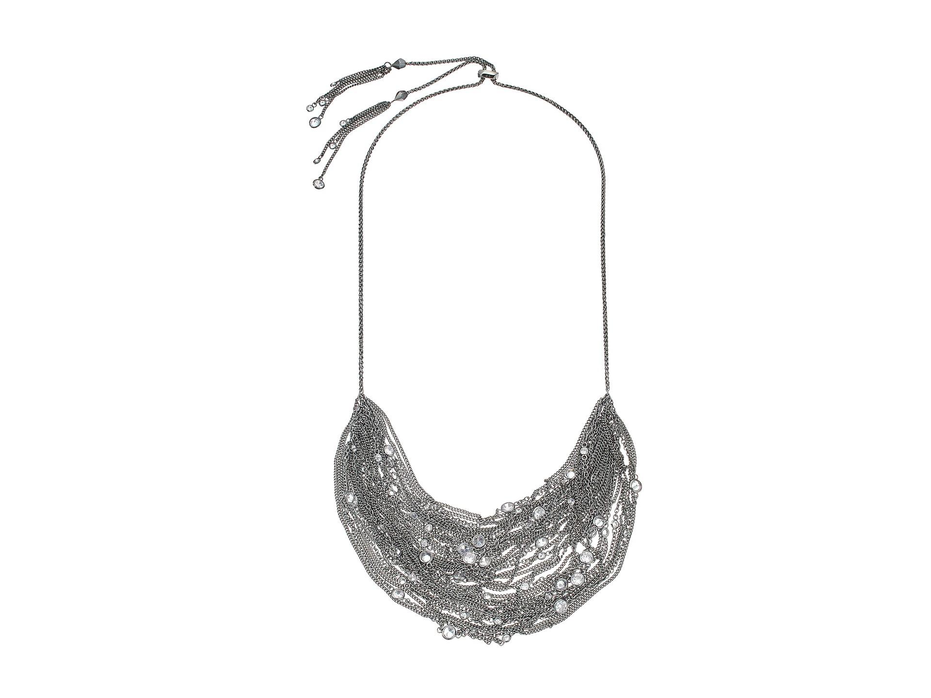 Kendra Scott Anastasia Adjustable Necklace Hematite White