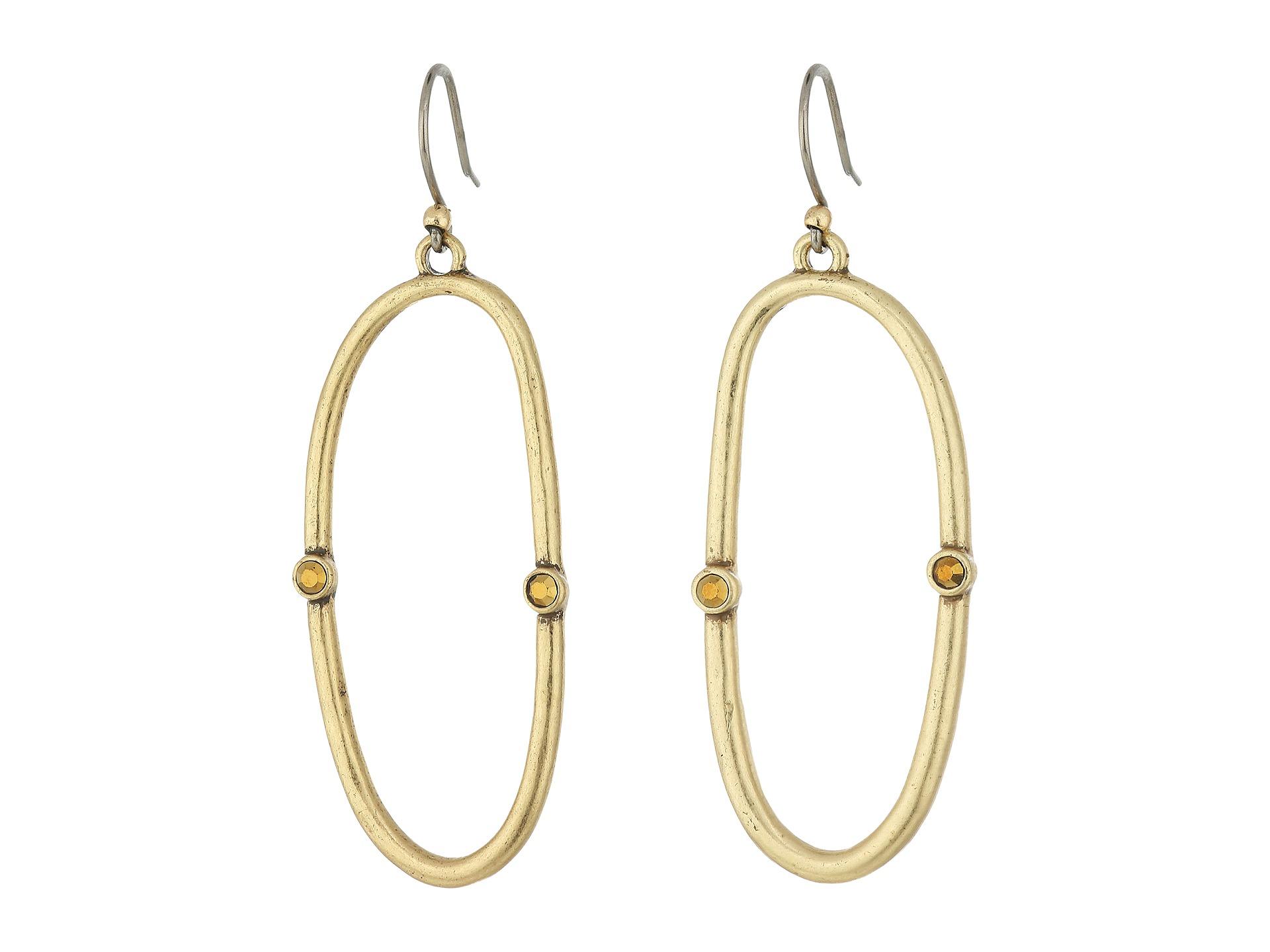 Lucky Brand Open Hoop Earrings Gold