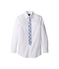 Tommy Hilfiger Kids Long Sleeve Print Shirt with Necktie ...