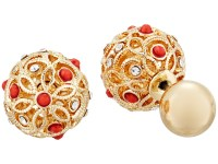 GUESS Ball Front Back Earrings - Zappos.com Free Shipping ...