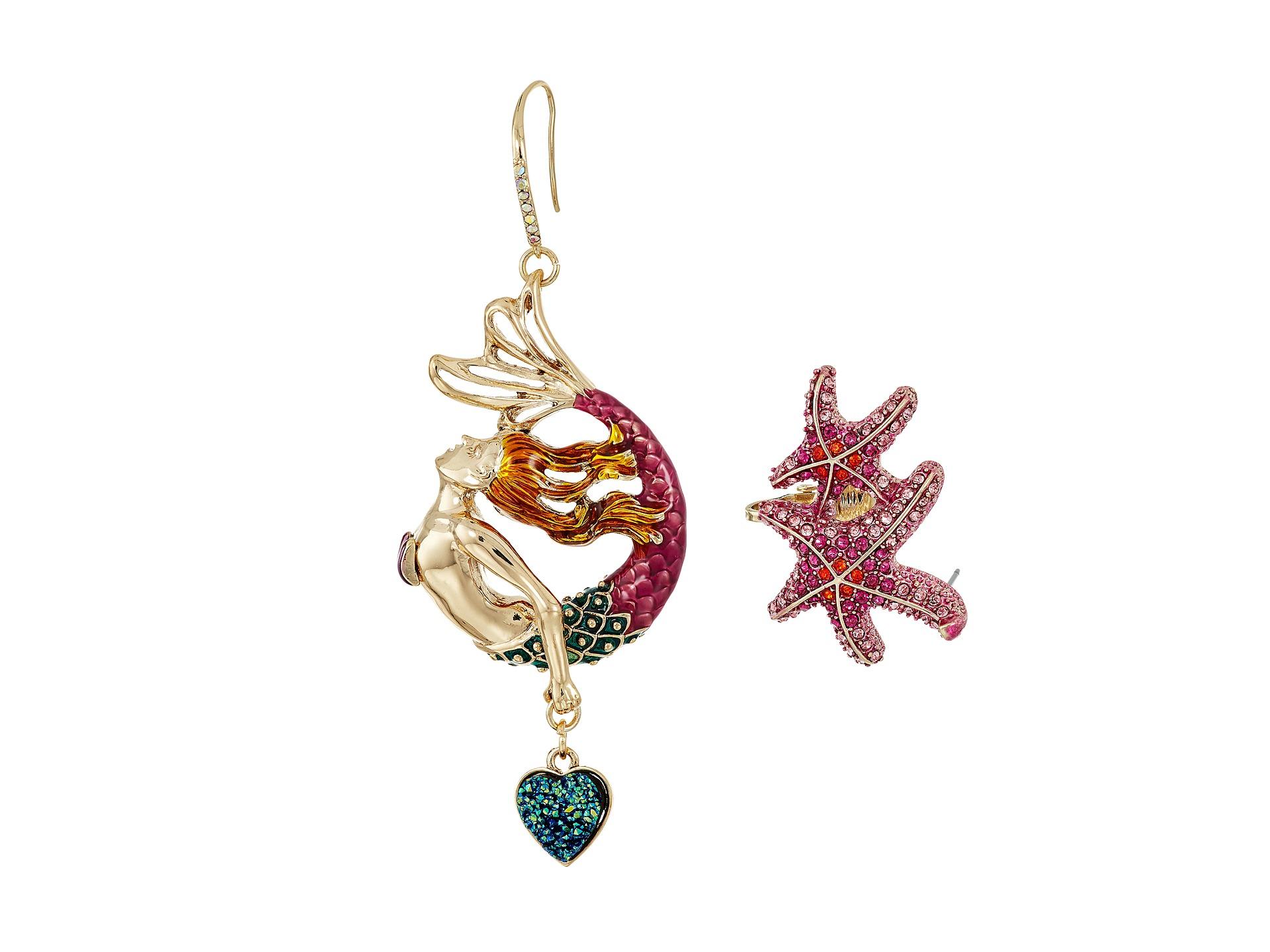 Betsey Johnson Mermaid Drop & Starfish Ear Crawler
